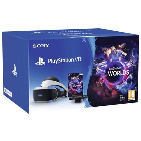 Casque PlayStation VR + Camera V2 + VR Worlds + GT Sport + astrobot + 30€ offert code Wonderbox