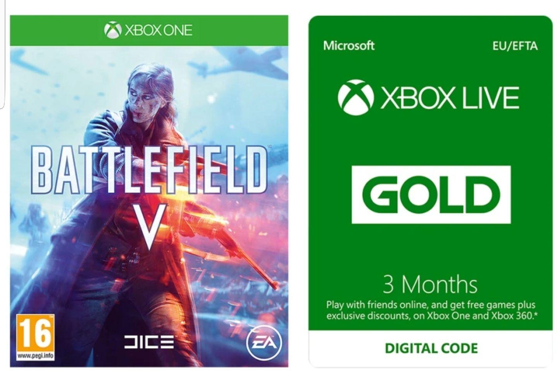 Battlefield V sur Xbox One + Abonnement Xbox Live 3 Mois