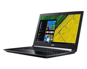 PC portable Acer Aspire 7 A717-71G - i7-7700HQ, GTX-1060, 8 Go de RAM, 1 To + 128 Go en SSD