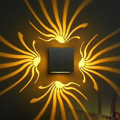 Applique murale à LED - Aluminium élégant oxydation (couleurs assorties)