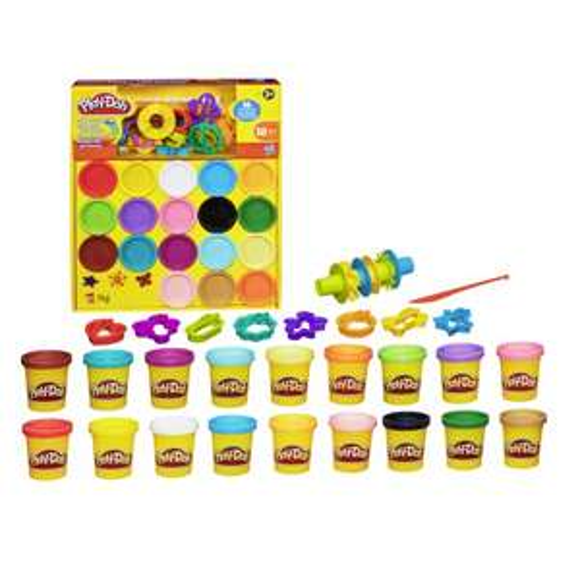 Play-Doh - Kit de 18 pots de pâte à modeler + 16 accessoires (via 2.53€ sur la carte fidélité)