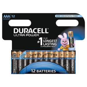 [Membres Premium] 12 Piles Duracell Alcaline Ultra Power AAA