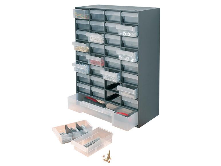 Casier de rangement quincaillerie 33 tiroirs ou 17 tiroirs