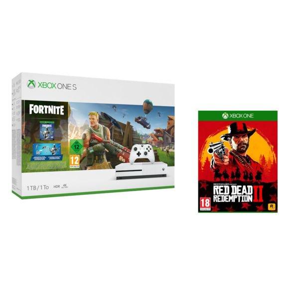Séléction de pack console Microsoft Xbox One S (1 To) en promotion - Ex : Fortnite + Red Dead Redemption 2