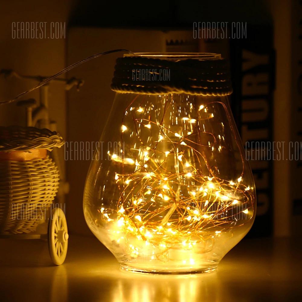 Guirlande 100 LEDs USB - 10 mètres, lumière chaude