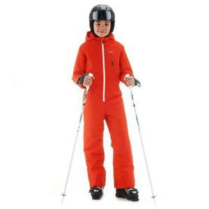 Combinaison de Ski Enfant Ski-P Suit 100 - Rouge   Orange Wed ze ... da67ea546a5