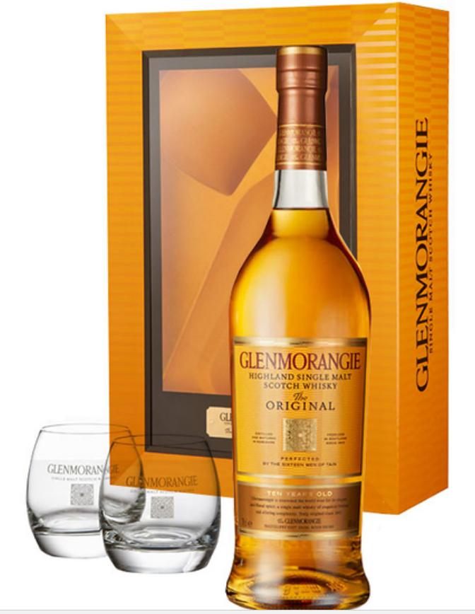 Coffret Whisky Glenmorangie 10 ans + 2 verres - 70cl (via 5€ sur la carte)