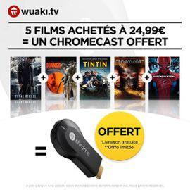 Google Chromecast + 5 films en VOD