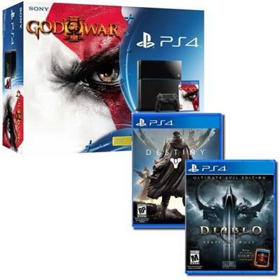 Pack Console PlayStation PS4 500 Go Noire + God Of War 3 HD + Diablo 3 Ultimate Evil Edition + Destiny