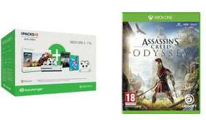 Pack Console Xbox One S (Blanc) - 1 To + 2ème Manette + Forza Horizon 4 + FIFA 19 + PUBG + Assassin's Creed Odyssey