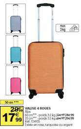 Valise cabine ABS 4 roues