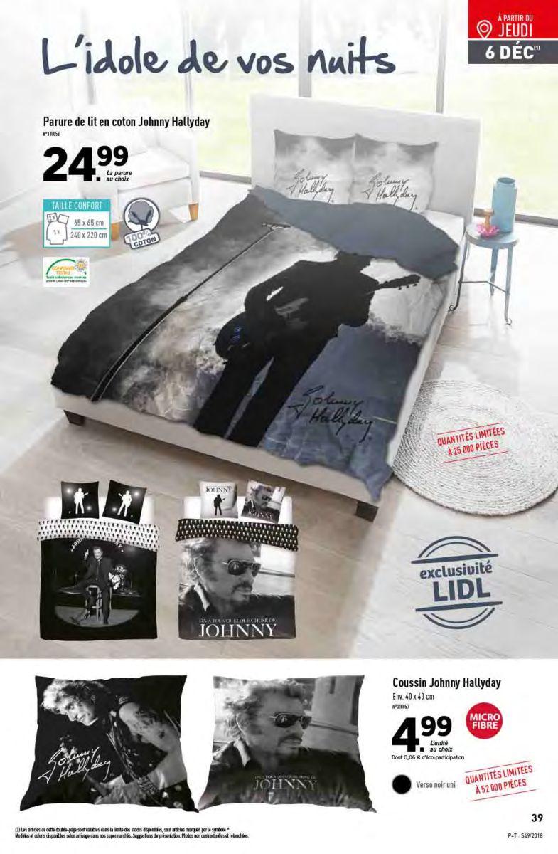 Parure de lit Johnny Hallyday - 240 x 220cm