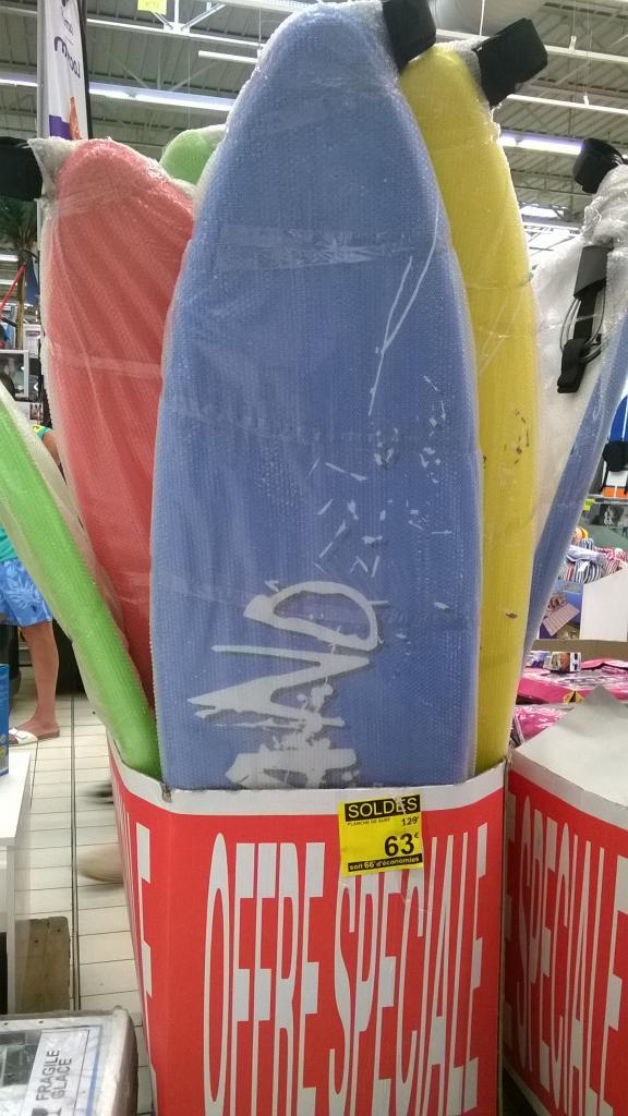 Planche de Surf shortboard 183 cm en mousse
