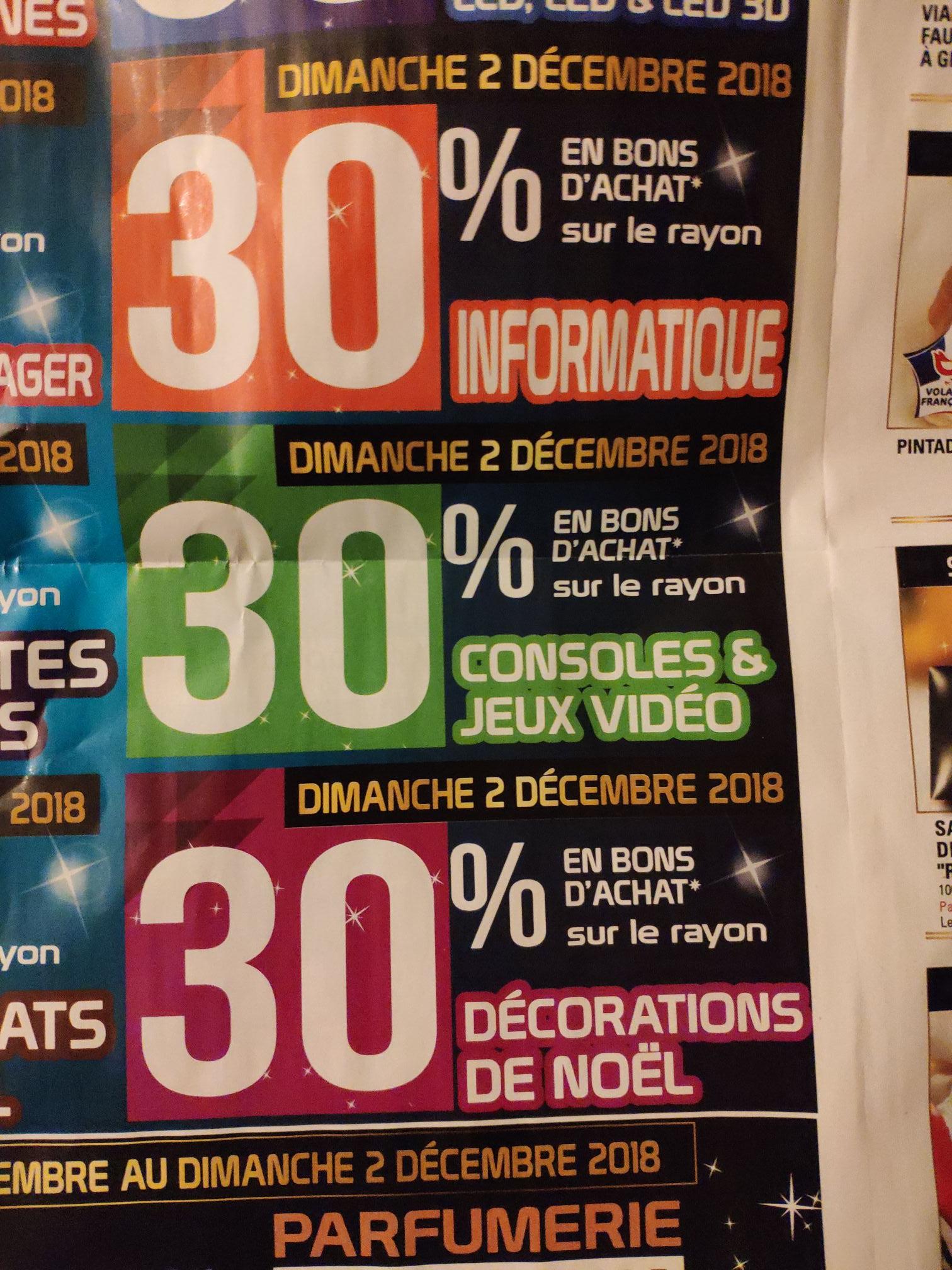 30% remboursés en bon d'achat sur vos achats de jeux-vidéos et consoles - Bonneuil sur marne (94)