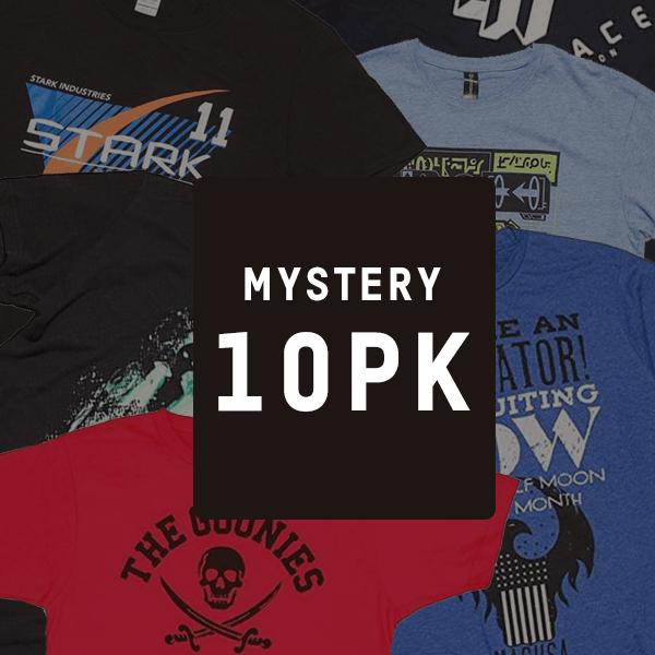 Lot de 10 T-Shirt Geek Mystère (Edition Black Friday) - Modèles Aléatoires