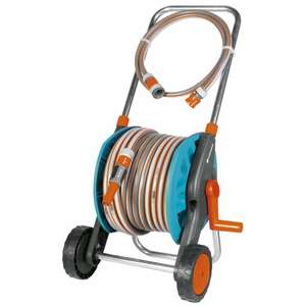 Dévidoir sur roues gardena équipé d'un tuyau de 30m