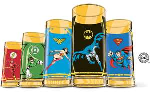Collection complete de 5  Verres quick Heros DC comics