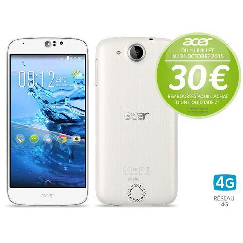 """Smartphone 5"""" Acer Liquid Jade Z blanc- 1,5 GHz Quad-core - 4G (ODR 30€)"""
