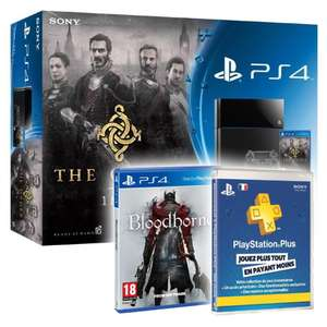 Console Sony PlayStation 4 + The Order 1886 ou PS TV + Bloodborne + PS Plus 3 mois