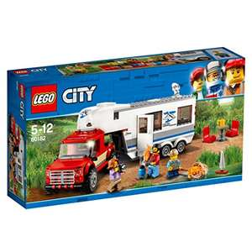 Jouet Lego City Le pick-up et sa caravane - Jeu de Construction