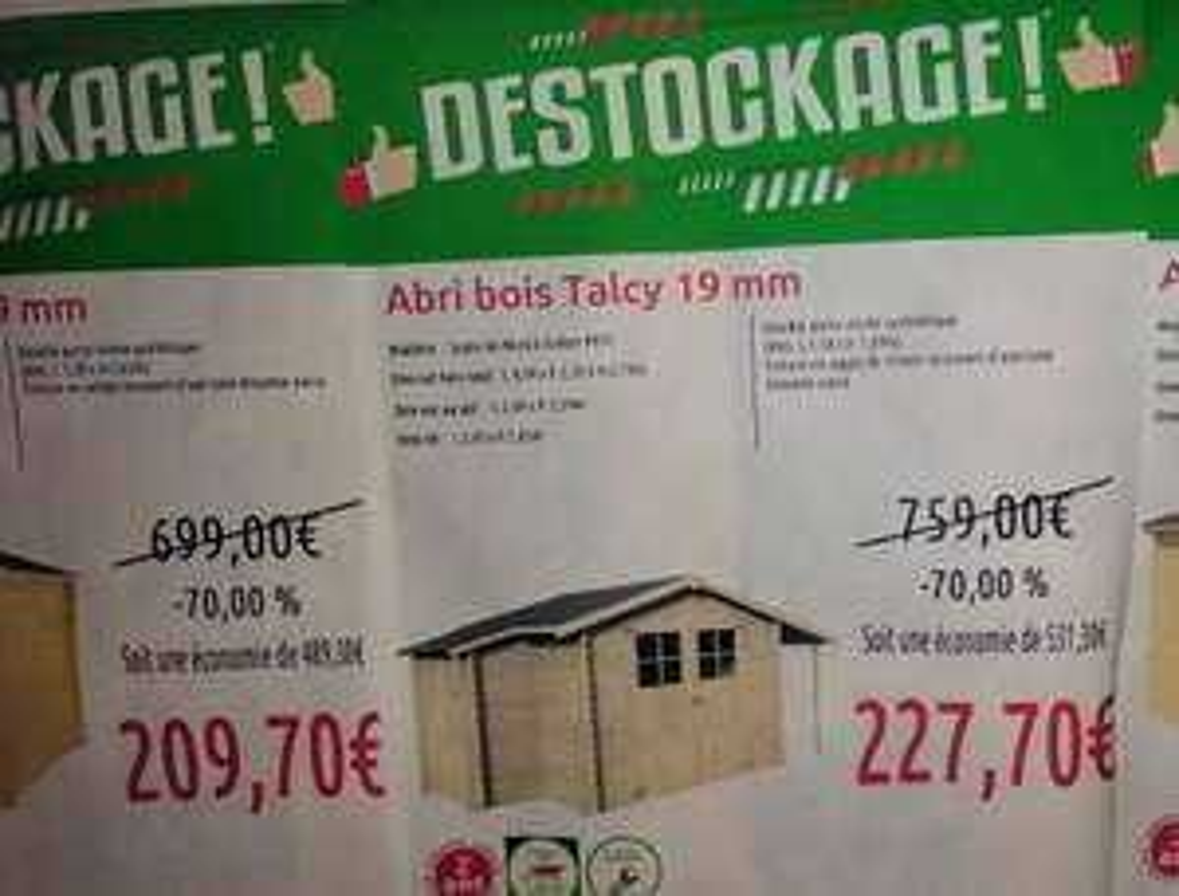 Abri de jardin en Bois Talcy 19mm - 5,03m² (Lexy 54)