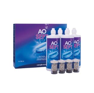 Solution d'entretien des lentilles de contact Aosetp plus 3x360ml + 90ml (vipoptic.fr)
