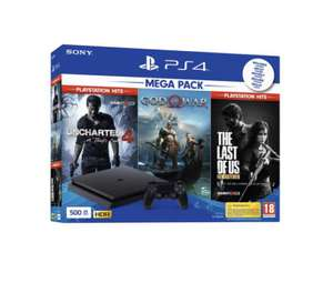 Pack console Sony PS4 Slim 500 + The Last Of US + God Of War + Uncharted 4