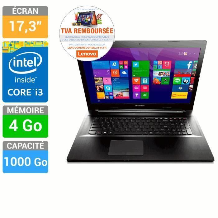 """PC portable 17.3"""" Lenovo Ideapad G70-70 - i3-4005U , 4 Go RAM, 1 To (via ODR TVA)"""