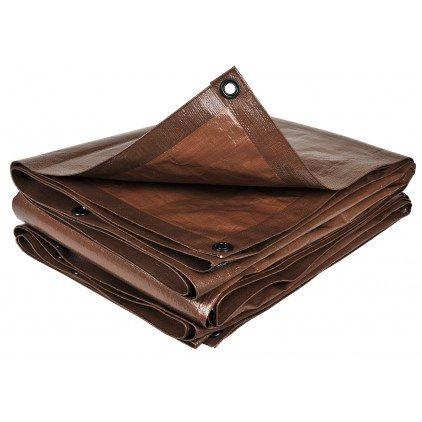 Bache à buches marron - 1,5 m x 6 m , 140g/m2