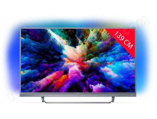 "TV LED 55"" Philips 55PUS7503 avec Ambilight (3 Côtés) - UHD 4K, HDR, Smart TV (Via ODR 100€)"