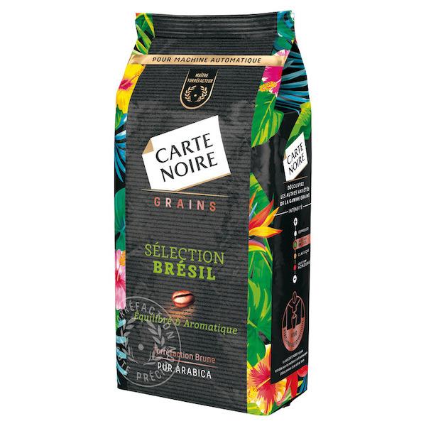 Café en grain Carte Noire Brésil ou Honduras - 500g