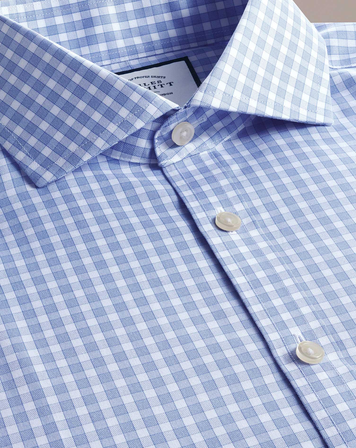 Jusqu'à -50% sur des produits Charles Tyrwhitt. Ex : chemise bleue en twill slim fit sans repassage à 24,95€