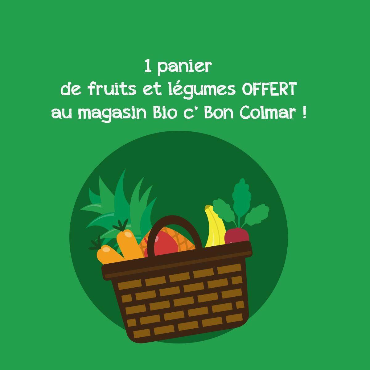 Un panier de fruits et légumes bio gratuit - Bio'c'bon Colmar (68)
