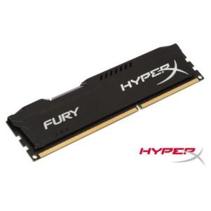 Barrette mémoire Kingston 8 Go DDR3 1600MHz CL10 HyperX FURY Black