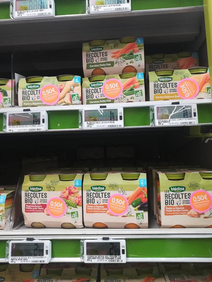 2 paquets de Blédina - Les Récoltes Bio