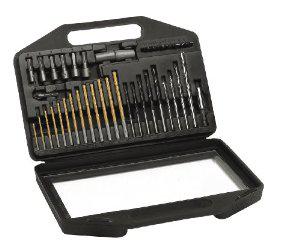 Coffret de mèches et forets Casals E2020 titanium - 42 pièces