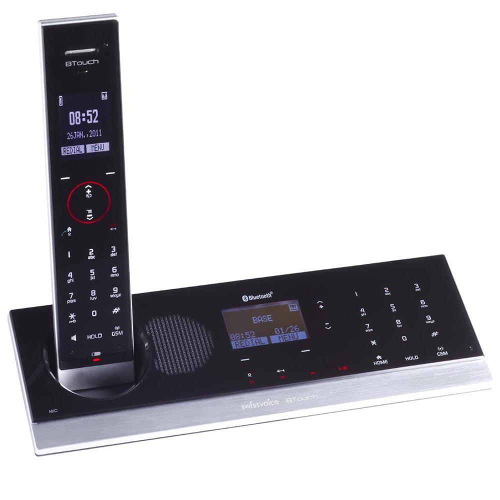 Téléphone Dect Swissvoice Btouch Noir connecté à votre mobile