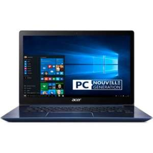 "PC Portable 14"" Acer Swift 3 Bleu - IPS Full HD, i3-7020U, RAM 4Go, SSD 256Go + Office + Souris (via ODR de 50€ et 20€)"
