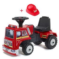 Porteur Camion de Pompier Falk avec Casque
