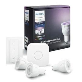 Kit démarrage Philips Hue - 3 ampoules White&Color GU10  (+ Jusqu'à 60€ en SuperPoints)