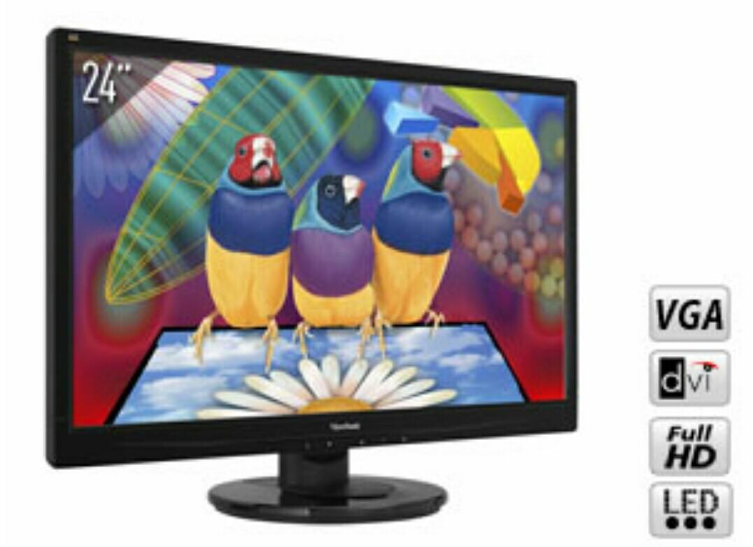 "Écran PC 24"" Viewsonic VA2445-LED Full HD - 5ms"