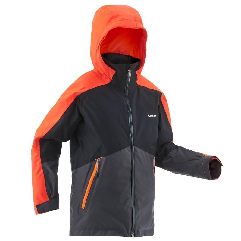 Veste de ski pour enfant Wedze Ski-P JKT 580 - bleu / vert ou noir / orange (du 6 au 14 ans)