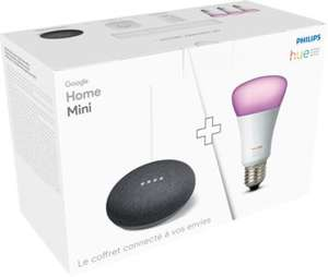 kit de d marrage philips hue e27 3 ampoules pont t l commande hue dimmer google home. Black Bedroom Furniture Sets. Home Design Ideas