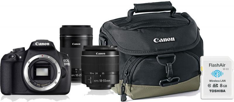 Appareil photo Reflex EOS 1200D + objectifs 18-55 DC + 75-300 + Carte Wifi 8 Go