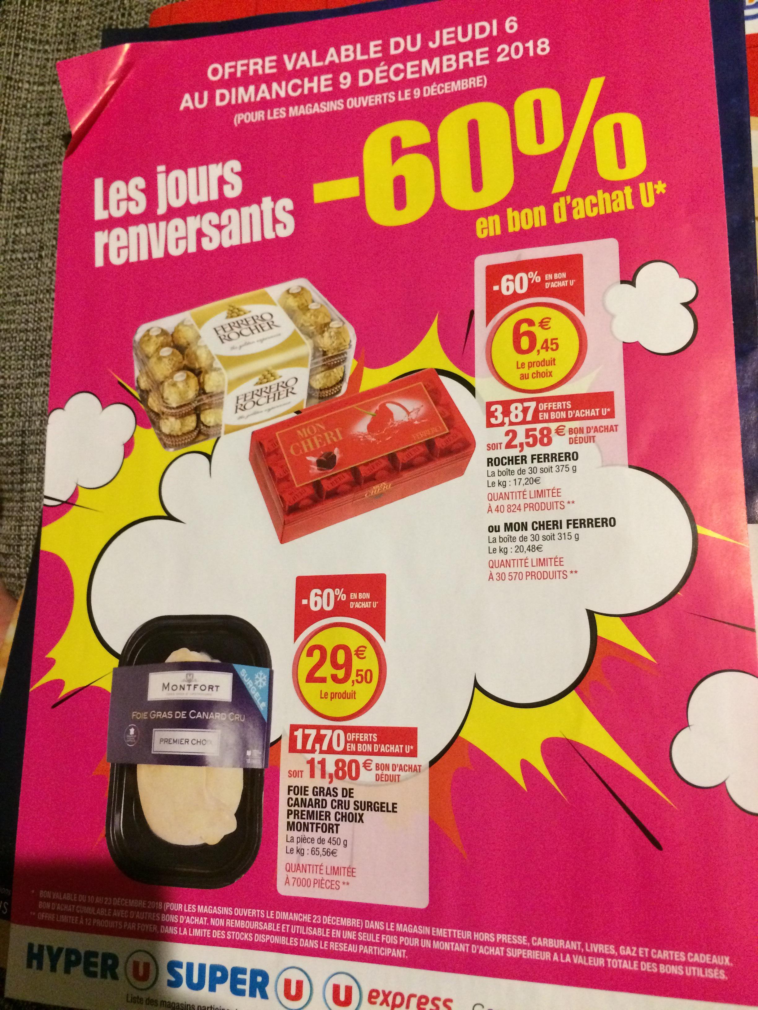 Boîte de 30 Chocolats Ferrero Rocher (Via 3,87€ en Bon d'achats) - Super U Sarralbe (57)
