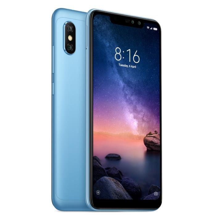 "Smartphone 6.26"" Xiaomi Redmi Note 6 Pro - 32 Go, Double SIM, Bleu (+ 8.45€ en SuperPoints)"