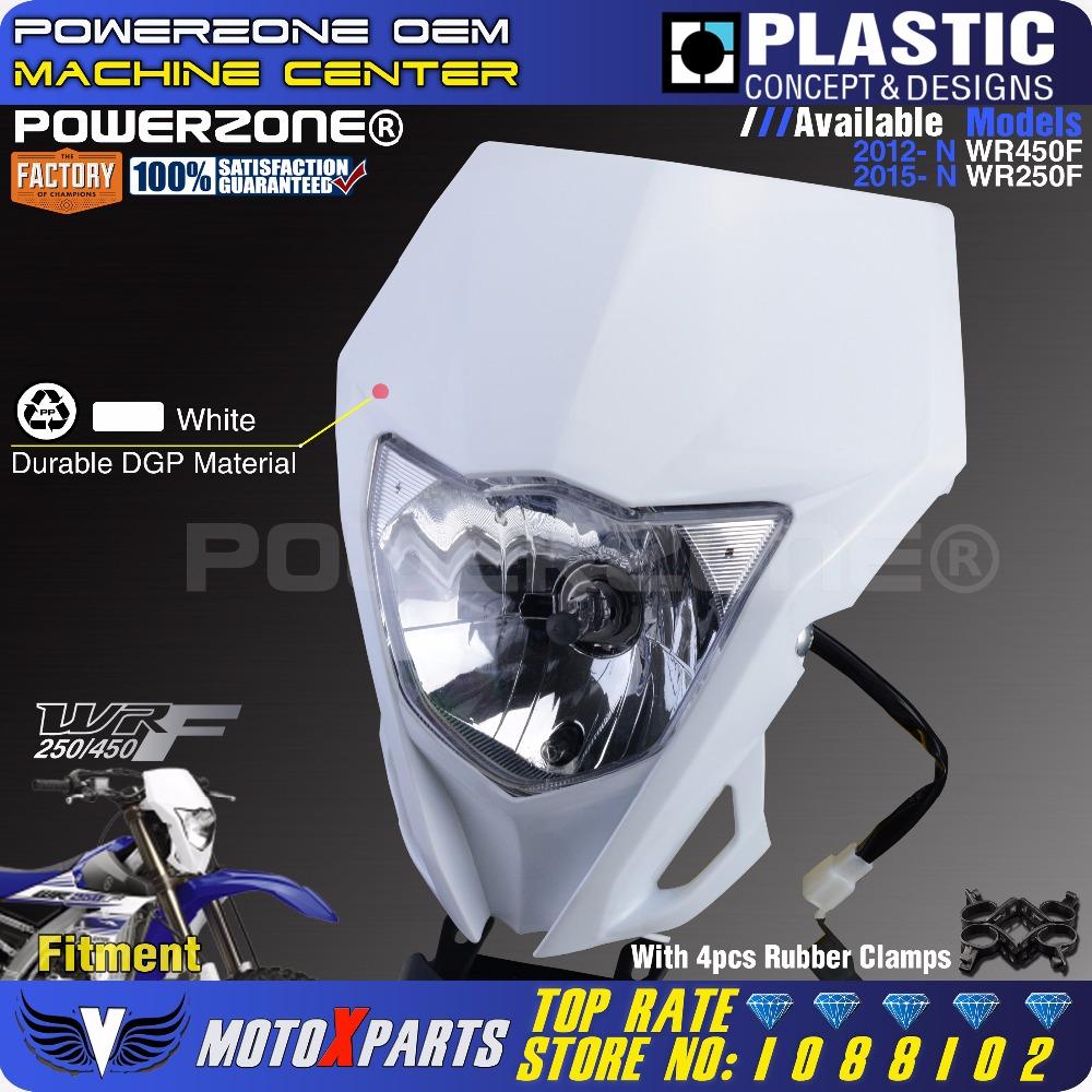 Plaque phare pour moto Yamaha WR250F PowerZone