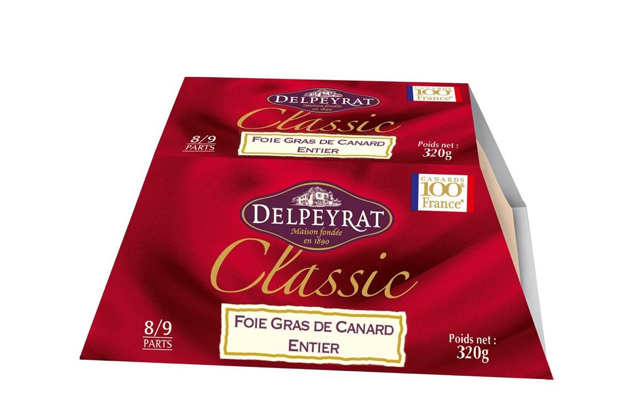 Foie gras entier Delpeyrat (via 26.57€ sur la carte) -