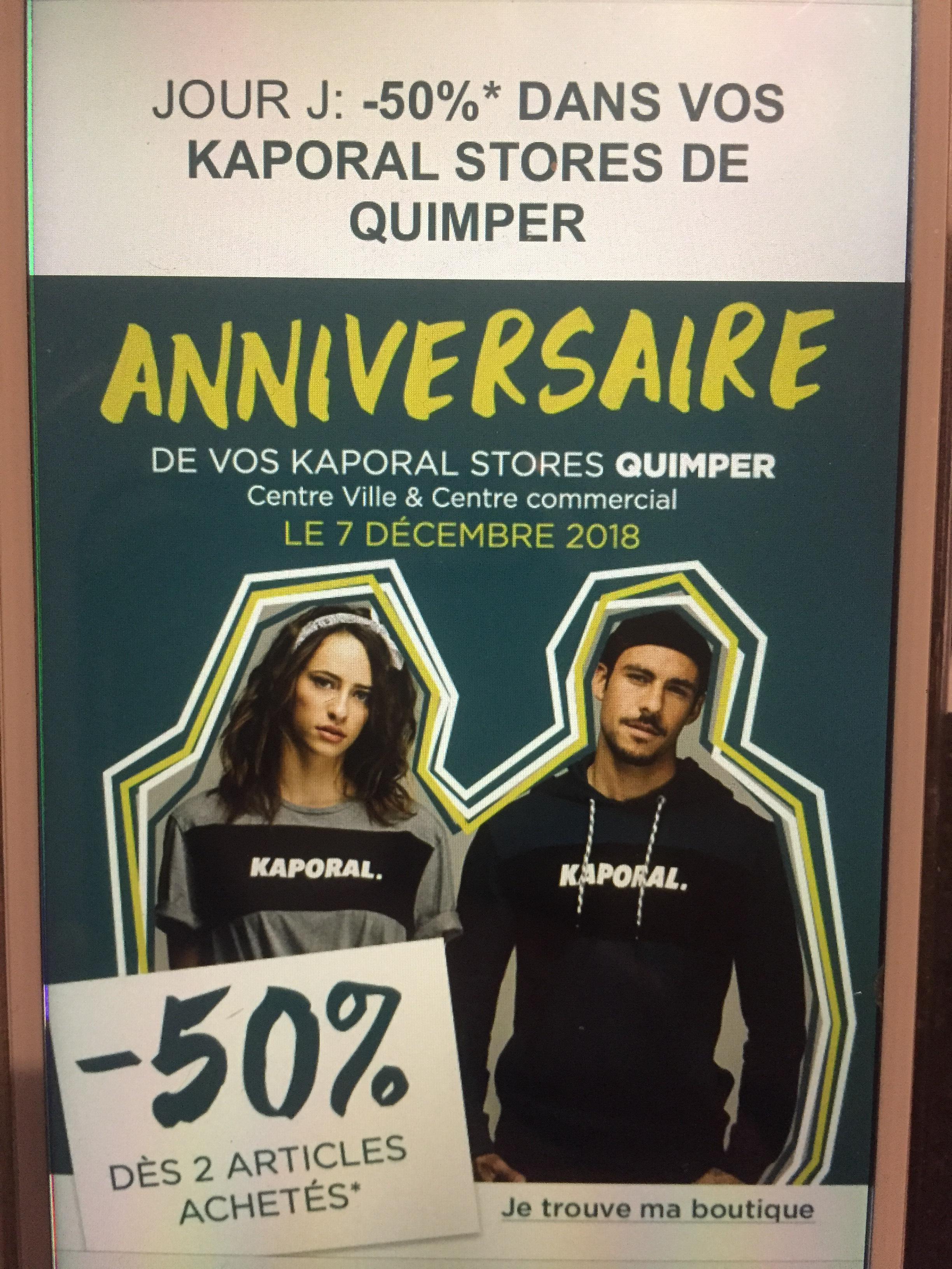 50% de réduction dès 2 articles achetés - Quimper (29)