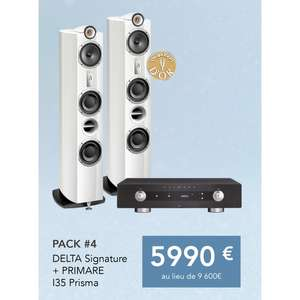 Pack paire d'enceinte colonne Triangle Signature Delta + Amplificateur audio Primare I35 Prisma